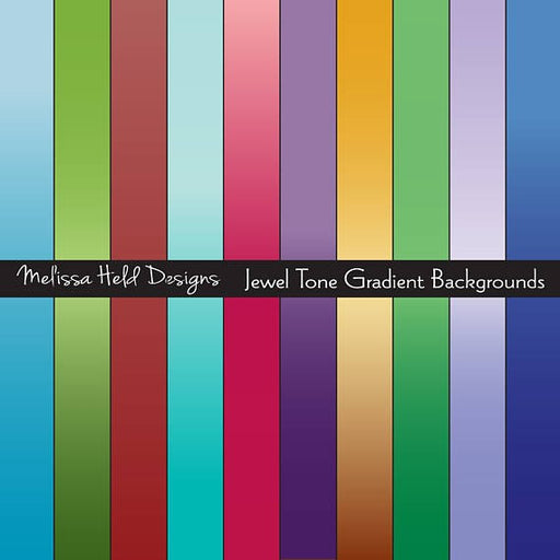 Jewel Tone Gradient Backgrounds Digital Paper & Backgrounds Melissa Held Designs    Mygrafico