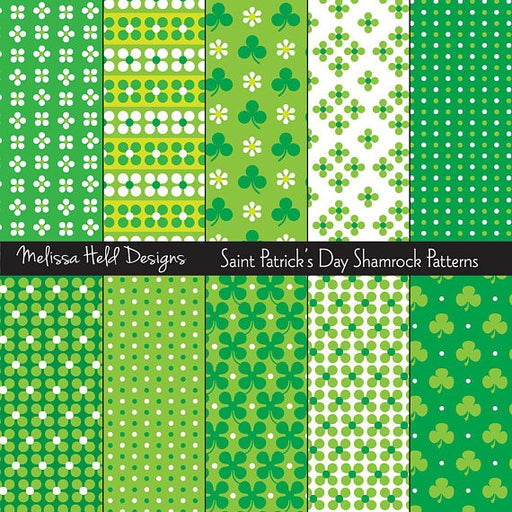 Saint Patricks Day Patterns Digital Paper & Backgrounds Melissa Held Designs    Mygrafico