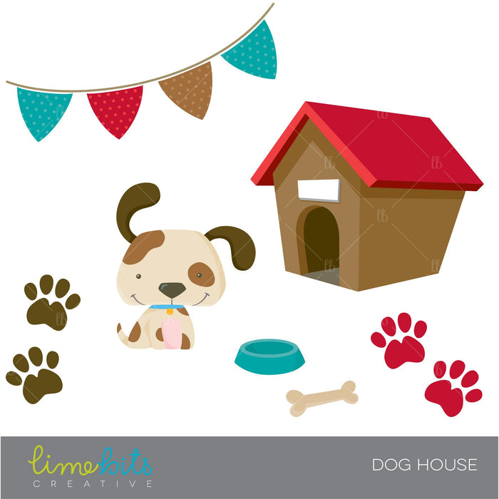 Dog House Clipart Clipart Lime Bits Creative    Mygrafico