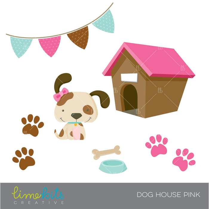 Dog House Pink Clipart