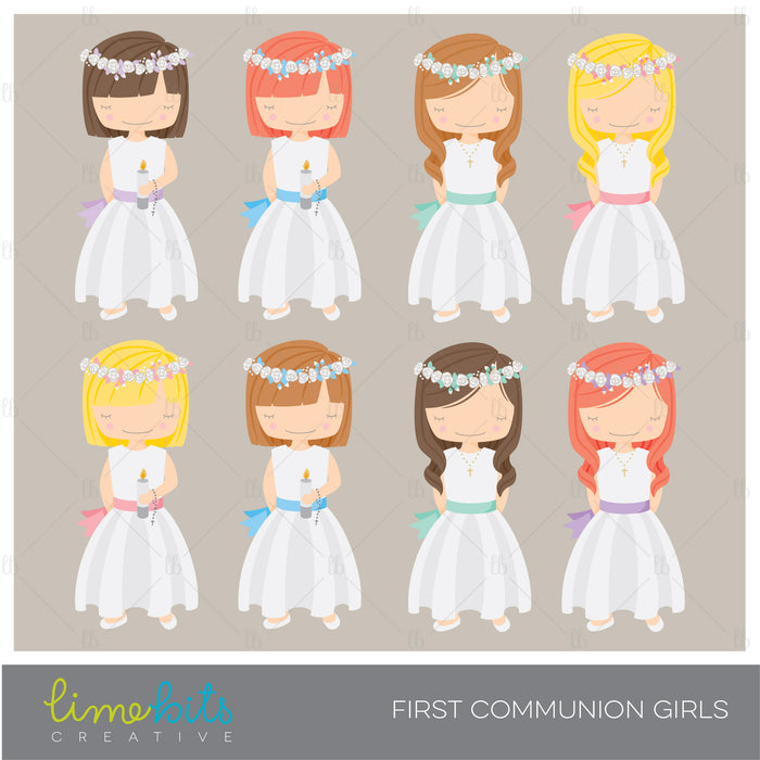 First Communion Girls Clipart clipart Lime Bits Creative    Mygrafico