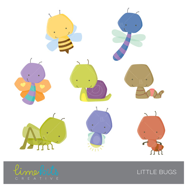 Little Bugs Clipart  Lime Bits Creative    Mygrafico