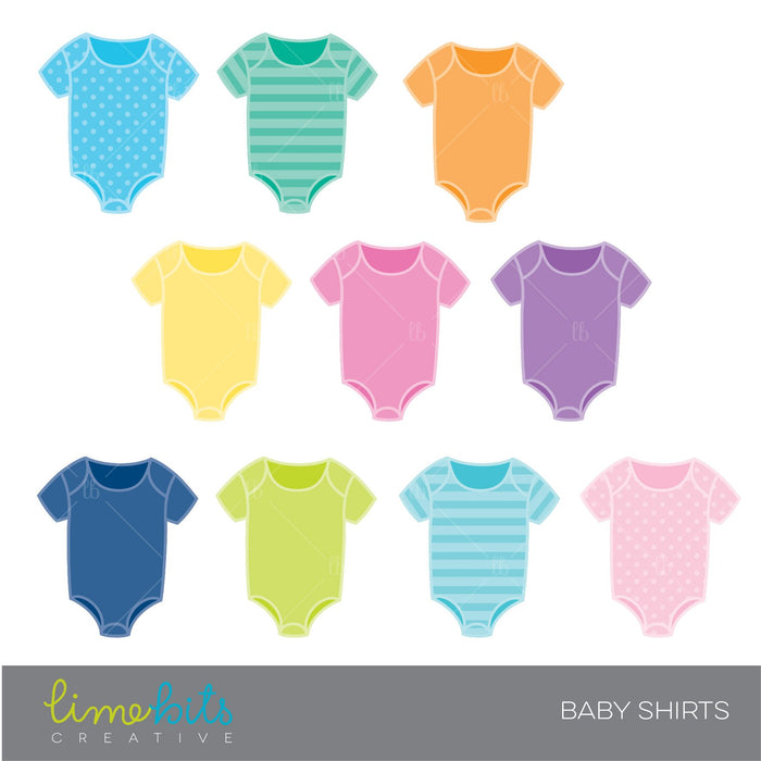 Color Baby Shirts Clipart  Lime Bits Creative    Mygrafico