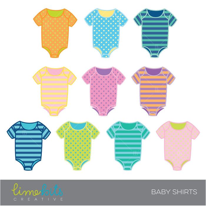 Baby Shirts Stripes and Polka Dots  Lime Bits Creative    Mygrafico