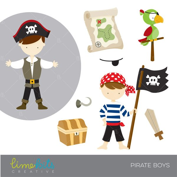 Pirate Boys Clipart  Lime Bits Creative    Mygrafico