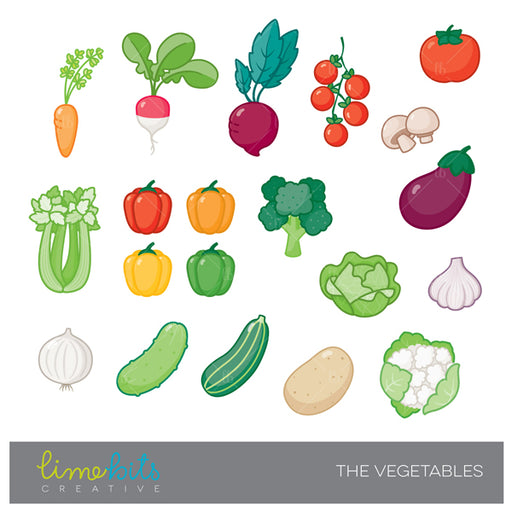 Vegetables Clipart  Lime Bits Creative    Mygrafico