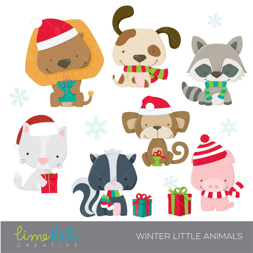 Winter Little Animals  Lime Bits Creative    Mygrafico