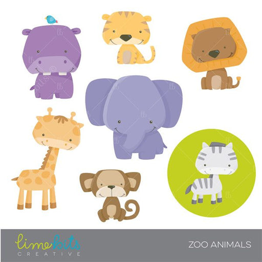 Zoo Animals Clipart Cliparts Limebits Creative    Mygrafico