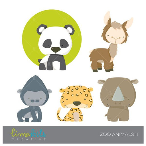 Zoo Animals Clipart  Limebits Creative    Mygrafico