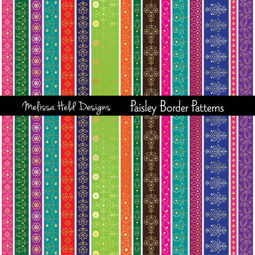 Paisley Border Patterns Cliparts Melissa Held Designs    Mygrafico
