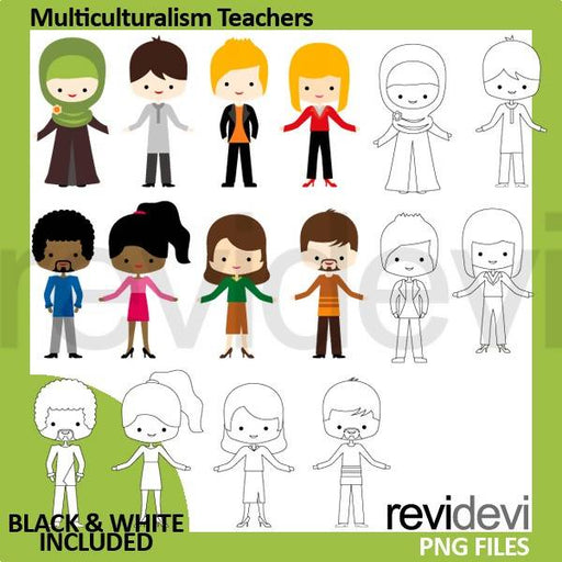 Multiculturalism Teachers Clipart - People (men women) Cliparts Revidevi    Mygrafico