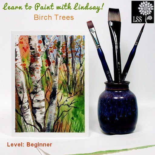 Learn To Paint: Birch Trees Tutorial Lindsay's Stamp Stuff    Mygrafico