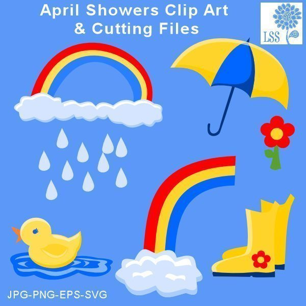 April Showers Clips & Cutting SVG Cutting Templates Lindsay's Stamp Stuff    Mygrafico