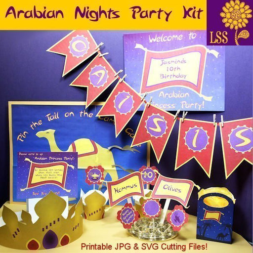 Arabian Party Printable & SVG SVG Cutting Templates Lindsay's Stamp Stuff    Mygrafico