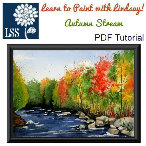 Learn to Paint: Autumn Stream Tutorial Lindsay's Stamp Stuff    Mygrafico