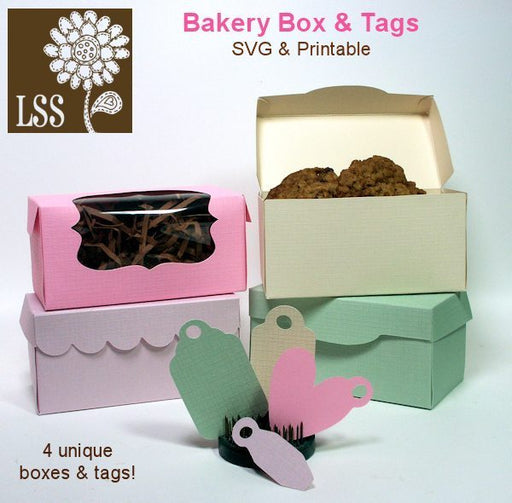 Bakery Boxes & Tags SVG Cutting Templates Lindsay's Stamp Stuff    Mygrafico
