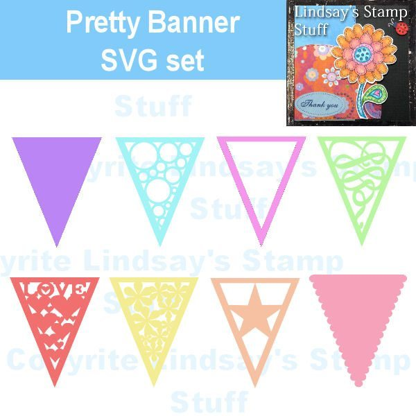 Pretty Banners SVG SVG Cutting Templates Lindsay's Stamp Stuff    Mygrafico