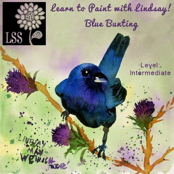 Learn to Paint: Blue Bunting Tutorial Lindsay's Stamp Stuff    Mygrafico