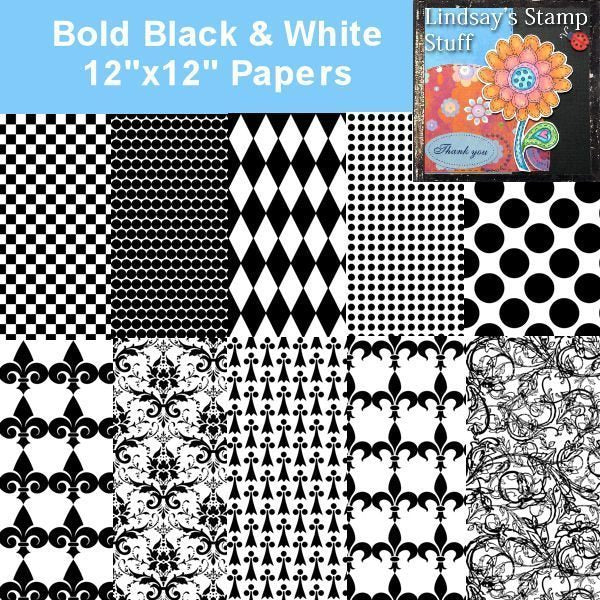 Bold Black & White Papers  Lindsay's Stamp Stuff    Mygrafico