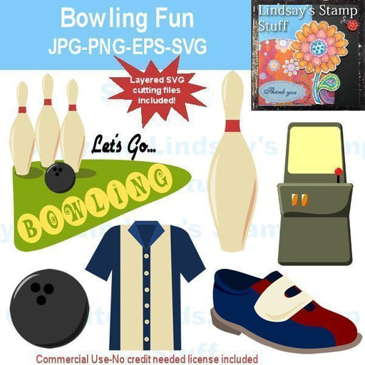 Bowling Fun SVG Cutting Templates Lindsay's Stamp Stuff    Mygrafico