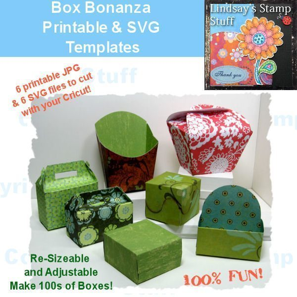 Box Bonanza! SVG Cutting Templates Lindsay's Stamp Stuff    Mygrafico