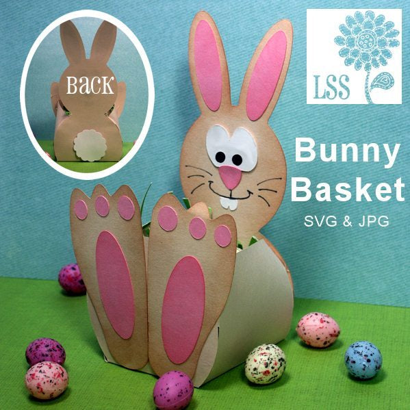 Bunny Basket SVG SVG Cutting Templates Lindsay's Stamp Stuff    Mygrafico