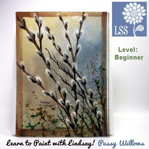 Learn To Paint: Pussy Willows Tutorial Lindsay's Stamp Stuff    Mygrafico