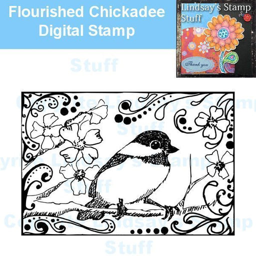 Chickadee Digital Stamp  Lindsay's Stamp Stuff    Mygrafico