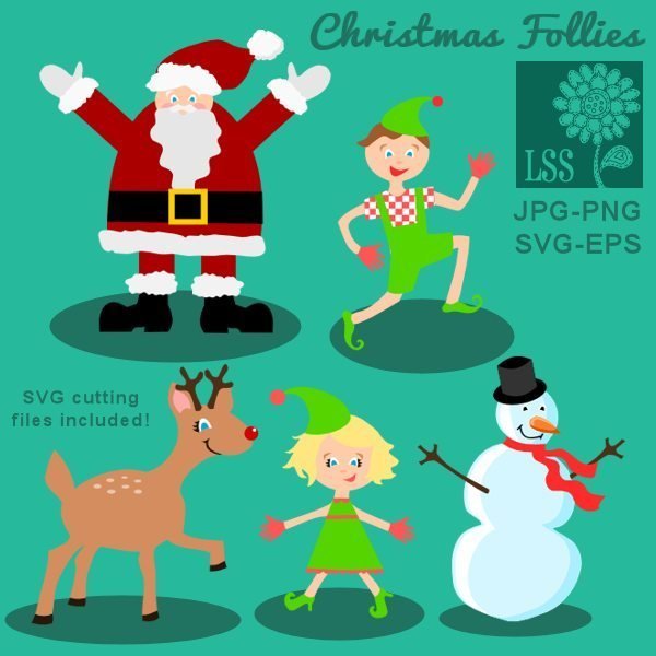 Christmas Follies Clips & Cutting SVG Cutting Templates Lindsay's Stamp Stuff    Mygrafico