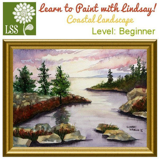 Learn to Paint: Coastal Landscape Tutorial Lindsay's Stamp Stuff    Mygrafico