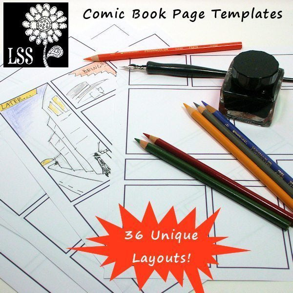 Comic Book Layouts Printable Templates Lindsay's Stamp Stuff    Mygrafico