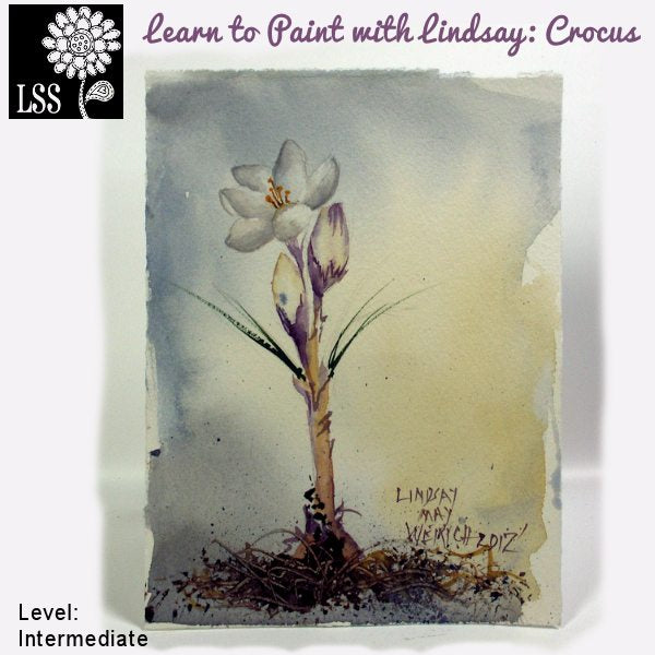 Learn to Paint: Crocus Tutorial Lindsay's Stamp Stuff    Mygrafico