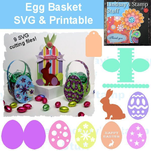 Egg Basket Template SVG Cutting Templates Lindsay's Stamp Stuff    Mygrafico