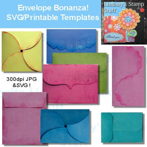 Envelope Bonanza! SVG Cutting Templates Lindsay's Stamp Stuff    Mygrafico