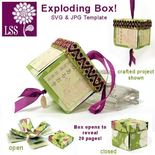 Exploding Box SVG SVG Cutting Templates Lindsay's Stamp Stuff    Mygrafico
