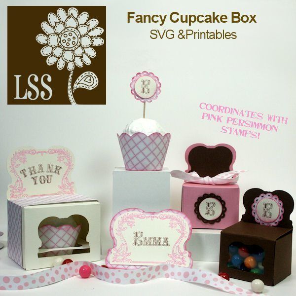 Fancy Cupcake Box SVG SVG Cutting Templates Lindsay's Stamp Stuff    Mygrafico