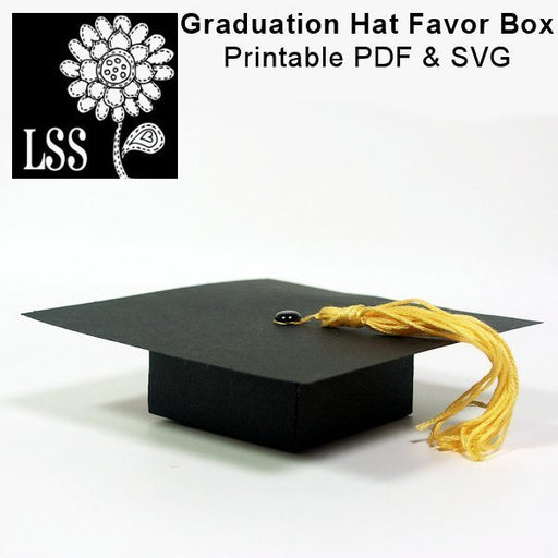 Grad Hat Favor Box SVG Cutting Templates Lindsay's Stamp Stuff    Mygrafico