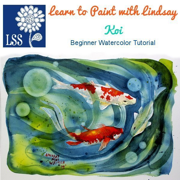 Learn to Paint: Koi Tutorial Lindsay's Stamp Stuff    Mygrafico
