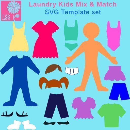 Laundry Kids SVG SVG Cutting Templates Lindsay's Stamp Stuff    Mygrafico