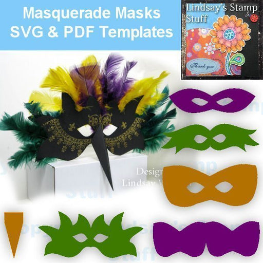 Masquerade Mask SVG SVG Cutting Templates Lindsay's Stamp Stuff    Mygrafico