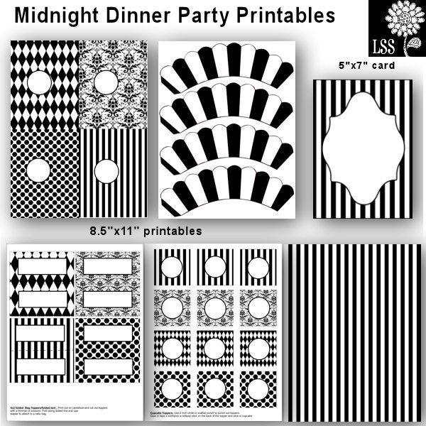 Midnight Dinner Party SVG Cutting Templates Lindsay's Stamp Stuff    Mygrafico