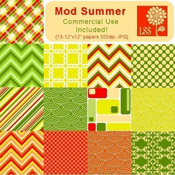 Mod Summer Papers  Lindsay's Stamp Stuff    Mygrafico
