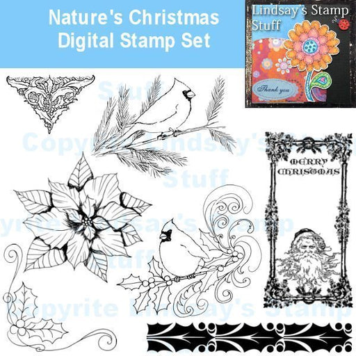 Nature's Christmas Stamps  Lindsay's Stamp Stuff    Mygrafico