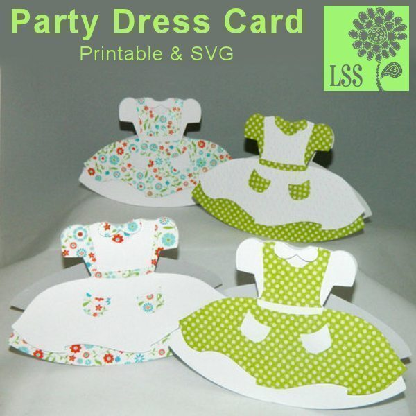 Pretty Dress SVG SVG Cutting Templates Lindsay's Stamp Stuff    Mygrafico