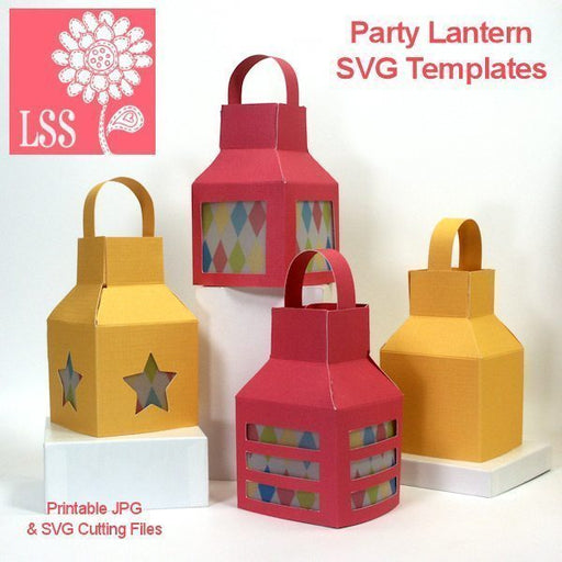 Party Lantern SVG SVG Cutting Templates Lindsay's Stamp Stuff    Mygrafico