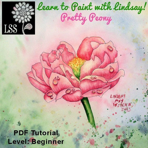 Learn to Paint: Peony Tutorial Lindsay's Stamp Stuff    Mygrafico