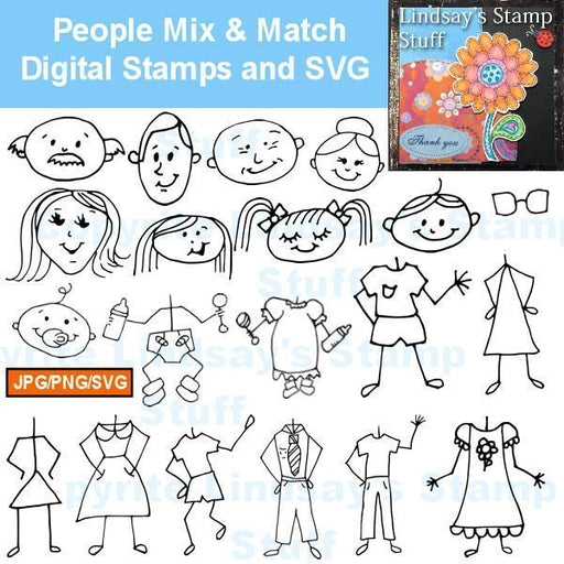 People Mix & Match  Lindsay's Stamp Stuff    Mygrafico