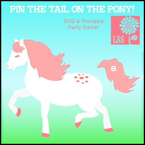 Pin The Tail on Pony SVG & Printable SVG Cutting Templates Lindsay's Stamp Stuff    Mygrafico