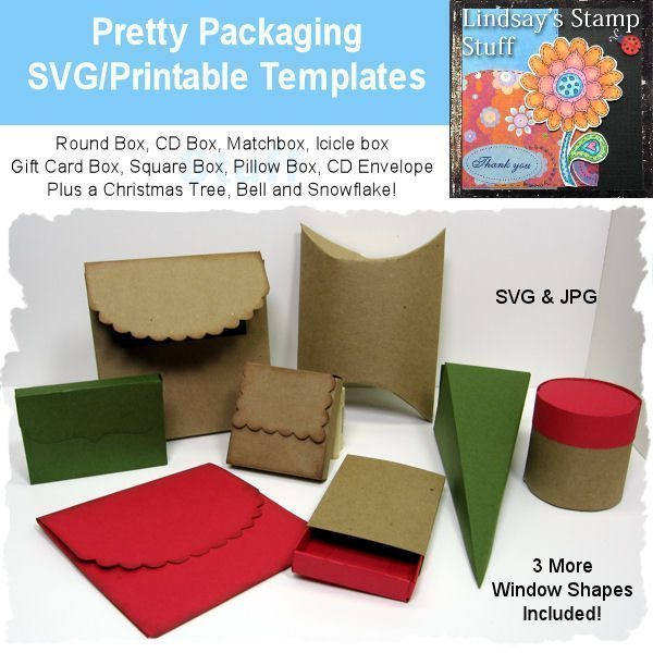 Pretty Packaging SVG SVG Cutting Templates Lindsay's Stamp Stuff    Mygrafico