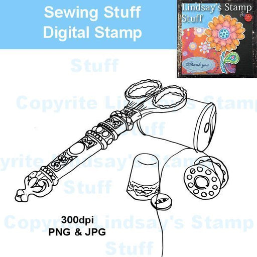 Sewing Stuff Digital stamp  Lindsay's Stamp Stuff    Mygrafico